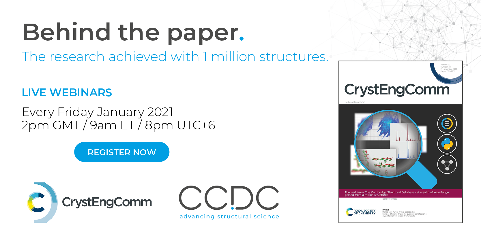 Behind the paper CCDC CrystEngComm webinar